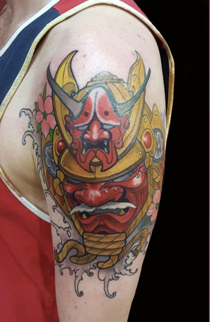 Arm Hannya/Oni Japanese samurai Tattoo