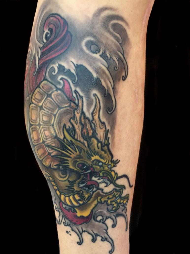 Dragons Leg Mythology Tattoo