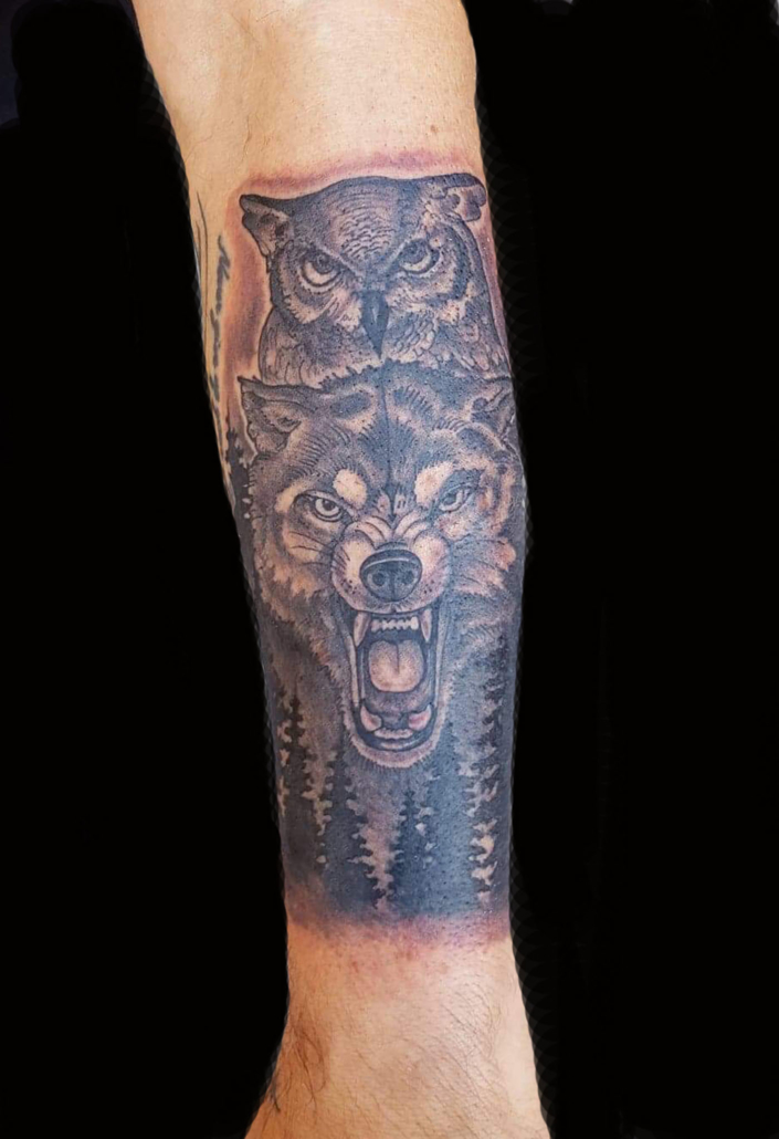 Black & Grey Tattoo