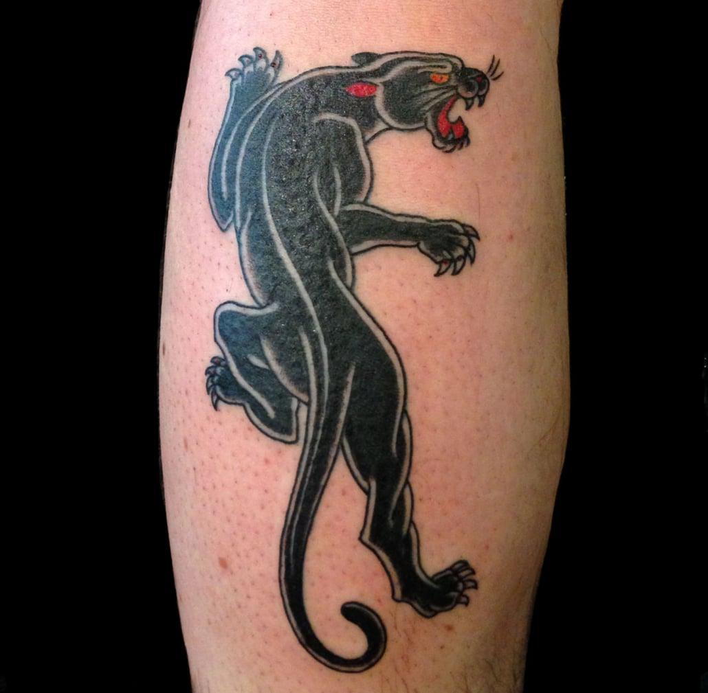 Animals Blackwork Leg Traditional/Americana Tattoo