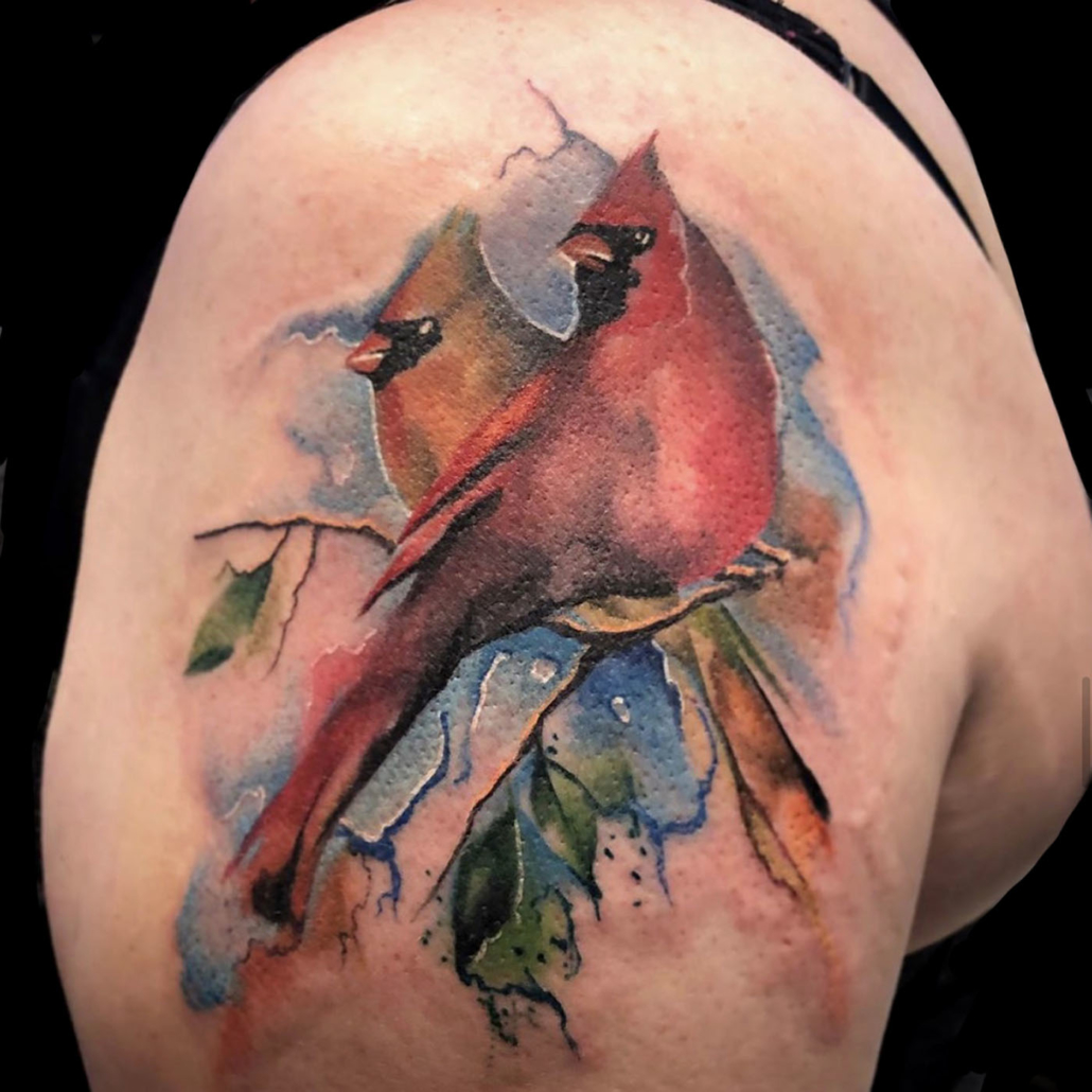 Animals Arm Birds Nature/Landscape Watercolor Tattoo