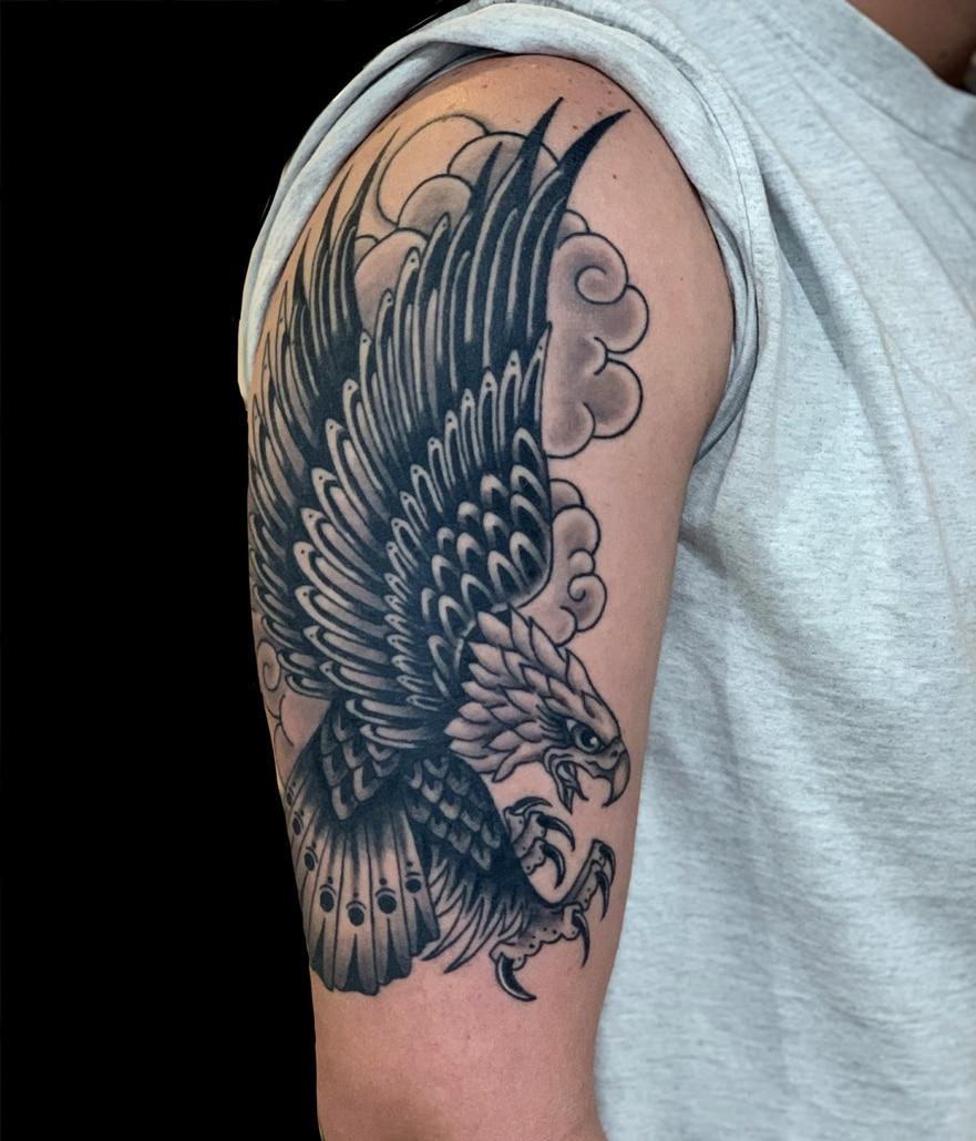Arm Birds Black & Grey Hawks/Eagles Traditional/Americana Tattoo